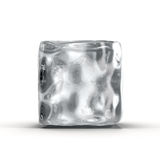 Cubo de hielo en el fondo blanco Imágenes de archivo libres de regalías