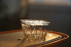 Cubo de hielo en la bandeja Imagen de archivo libre de regalías
