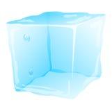 Cubo de hielo frío ilustración del vector