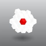 Cubo de la bandera de Japón del transformador del vector Imagen de archivo libre de regalías