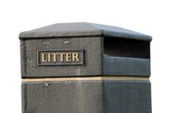 Cubo de la basura Fotografía de archivo