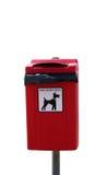Cubo de la basura del perro Fotos de archivo libres de regalías