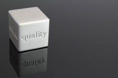 Cubo de la calidad Imagenes de archivo