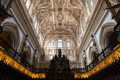 Cubo de la catedral del coro y del renacimiento, Córdoba Imagen de archivo libre de regalías
