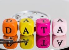 Cubo de la letra de los datos en concepto del disco duro Fotografía de archivo libre de regalías