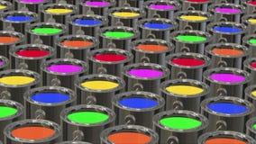 Cubo de la pintura del color loopable ilustración del vector