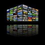 Cubo de los multimedia Fotografía de archivo libre de regalías