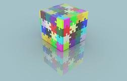 Cubo de los rompecabezas Foto de archivo libre de regalías