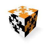 Cubo de los rompecabezas Fotos de archivo libres de regalías