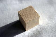 Cubo de madeira Imagens de Stock Royalty Free