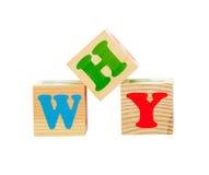 Cubo de madera aislado Imagen de archivo