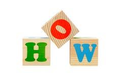 Cubo de madera aislado Imagen de archivo libre de regalías