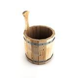 Cubo de madera para un baño Fotografía de archivo