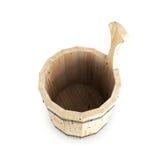 Cubo de madera para un baño Foto de archivo libre de regalías