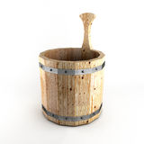 Cubo de madera para un baño Imagen de archivo