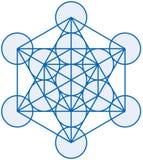 Cubo de Metatron Imagenes de archivo