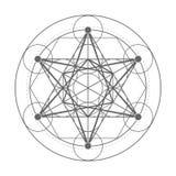 Cubo de Metatrons Ilustração sagrado da geometria Fotos de Stock Royalty Free