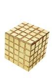 Cubo de oro Imagen de archivo libre de regalías