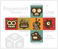 Cubo de papel para los juegos y la decoración de los niños. ilustración del vector