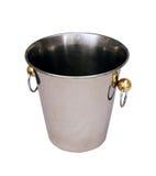 Cubo de plata del champangne Foto de archivo