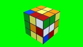 Cubo de Rubik que es solucionado stock de ilustración