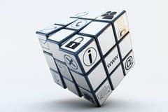 Cubo de Rubiks del asunto Imágenes de archivo libres de regalías