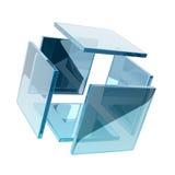 Cubo de vidro Fotos de Stock Royalty Free