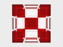 Cubo de vidro contínuo Foto de Stock Royalty Free