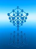 Cubo del átomo Imagenes de archivo