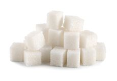 Cubo del azúcar aislado Imagen de archivo libre de regalías