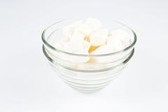 Cubo del azúcar en cuenco Fotos de archivo libres de regalías
