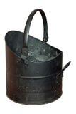 Cubo del carbón llevado y rasguñado Foto de archivo