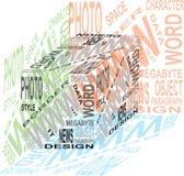 Cubo del diseño Imagenes de archivo