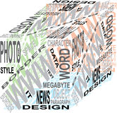 Cubo del diseño Foto de archivo
