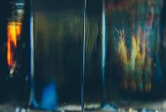Cubo del fondo del primer del hielo fotos de archivo