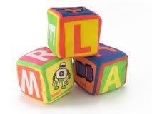 Cubo del juguete Foto de archivo libre de regalías
