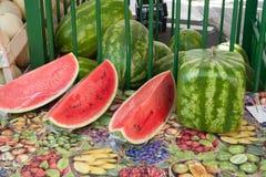 Cubo del melone Fotografie Stock Libere da Diritti