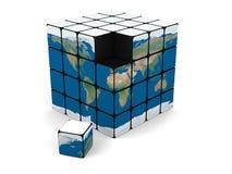 Cubo del mundo ilustración del vector