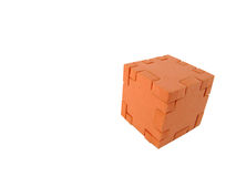 Cubo del rompecabezas Imágenes de archivo libres de regalías