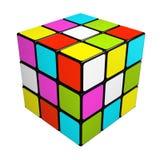 Cubo del rompecabezas aislado en el fondo blanco libre illustration