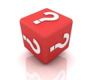 Cubo del signo de interrogación Imágenes de archivo libres de regalías