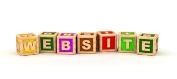 Cubo del testo del sito Web illustrazione di stock