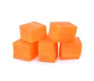 Cubo della carota isolato su bianco immagine stock libera da diritti