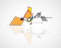 Cubo della rete di tecnologia emergente Fotografia Stock Libera da Diritti
