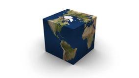 Cubo della terra Fotografie Stock