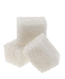 Cubo dello zucchero bianco Fotografia Stock