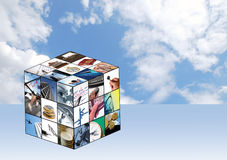 Cubo di affari Immagine Stock