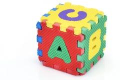Cubo di alfabeto di divertimento Fotografia Stock