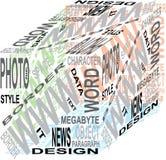 Cubo di disegno Fotografia Stock