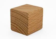 Cubo di legno Fotografia Stock